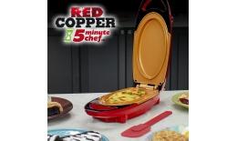 Multifunkcyjna dwustronna patelnia - 5minute CHEF red COPPER PAN