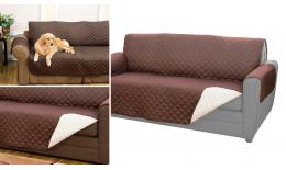 Dwustronna narzuta chroniąca sofę