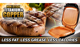 Copper Ceramic Low Fat Grill