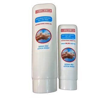 Antybakteryjny żel do dezynfekcji rąk CLEAN & CARE, 50 ml lub 125 ml